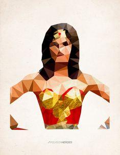 Polygon Heroes - Wonder Woman Art Print