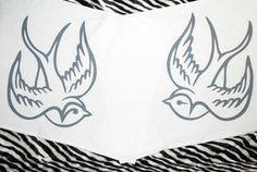 Hells Blankets  White Swallows Pillowcase Set $29.95