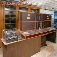 May 1941. The Zuse Z3 was an electromechanical computer designed by Konrad Zuse. It was the world's first working programmable, fully automatic computing machine. The Z3 was built with 2,000 relays, implementing a 22 bit word length that operated at a clock frequency of about 5–10 Hz. A fully functioning replica was built in the 1960s by Zuse's company, Zuse KG, and is on permanent display in the Deutsches Museum. Engineering Technology, Computer Technology, Office Automation, Old Computers, Military Equipment, First World, All About Time, Bavaria, Museum