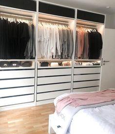Closet Layout 506443920600513384 - Source by LouCajou Ikea Pax Wardrobe, Wardrobe Room, Wardrobe Design Bedroom, Closet Bedroom, Home Bedroom, Bedroom Decor, Dressing Room Design, Ikea Dressing Room, Closet Layout