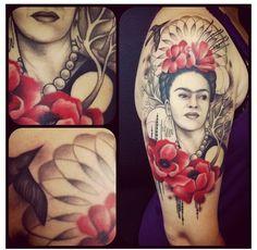 frida kahlo perfecto tatuaje mexicano