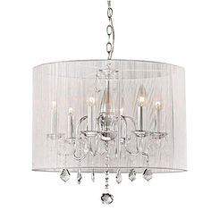 Cast a chic glow over your dining room or foyer with this sophisticated chandelier, featuring a candelabra-inspired design and pleated drum shade.