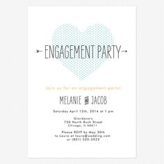 Heart to Heart Engagement party invitation