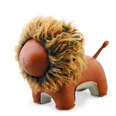 Lion Lino Animal Bookend by Zuny. Bring some Zuny magic into your home with this adorable Zuny Lion Lino Bookend handmade from high quality PU leather. Project Nursery, Nursery Decor, Nursery Room, Nursery Ideas, Kids Bedroom, Bedroom Ideas, Leather Industry, Lion Design, Unique Gifts For Him
