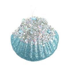 Nicholas Square® Glitter Seashell Christmas Ornament<<<would be cool to do this to a real shell Seashell Christmas Ornaments, Seashell Ornaments, Nautical Christmas, Christmas Crafts, Xmas, Beach Christmas Trees, Christmas Glitter, Diy Ornaments, Mermaid Ornament
