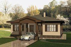 Фото: проект одноэтажный удобный дом с тремя спальнями и верандой