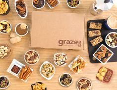 graze | deliveries - i get a graze box of snacks sent to my office each week starting now on for only 6 bucks each time! <3