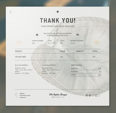 jpg by Bethany Heck - Email Template - Ideas of Email Template - Eephus order confirmation email Invoice Design, Web Ui Design, Form Design, Email Design, Page Design, Design Concepts, Design Design, Magazine Design, Graphic Design Magazine