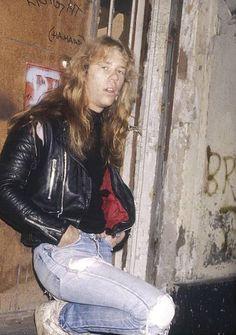James Hetfield. Metallica. 1986