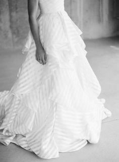 Hayley Paige wedding gown with stripes | Anna Be Stylebook by Tory Lea Photography | http://burnettsboards.com/2013/11/anna-be-style-book/