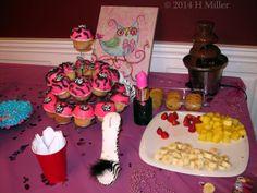 Kids Spa Party Treats Table