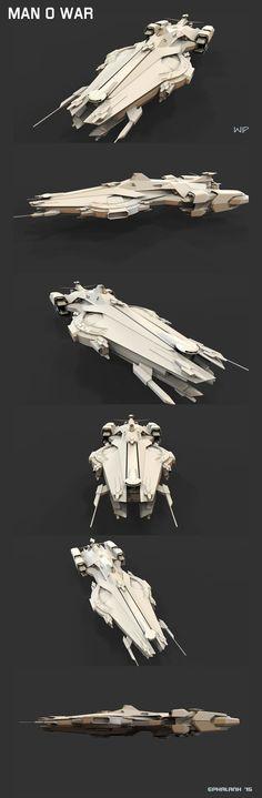 """Man O War"" Carrier / Destroyer - [EPhalanx - WIP] (concept ship for Star Citizen)"