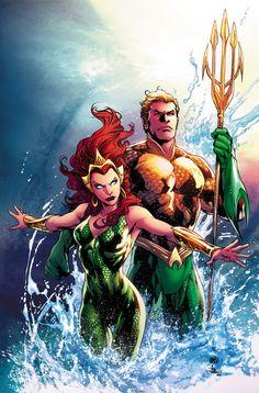 AQUAMAN # 49 A raíz de la invasión de Thule, Aquaman debe mostrar a la gente de la Atlántida que él era el blanco de una conspiración y ganar su confianza una vez más. Y no, no va a ser fácil