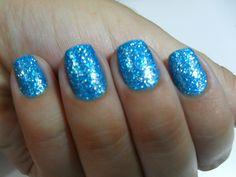 Light Blue Nails | Light Blue Glitter Nail Polish