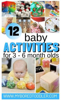 6 Month Baby Activities, Baby Learning Activities, Montessori Activities, Infant Activities, Activities For Kids, Activity Ideas, 6 Months Old Activities, Activities For Babies Under One, Crafts For Babies