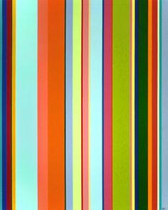 Karl Benjamin (1925-2012) Vertical Stripes #13