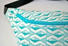 #bumbag #fannypack #geometric #turquoise ykk by #beksiesboutique, £18.00 https://www.etsy.com/uk/listing/182305785/bumbag-fannypack-geometric-turquoise-ykk #triangle #bag #summer #festival #btnetsy #outdoor
