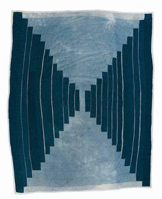 Gees Bend quilt that makes me think of a Star Trek-Beckett mix.