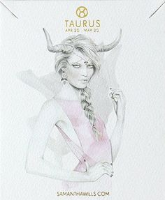 kelly smith illustration & samantha wills jewelry // taurus. #taurus #astrology #zodiac