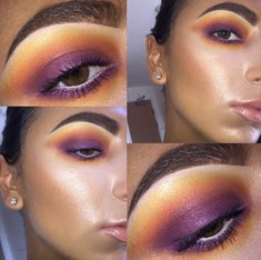 Blown Out Sunset Smokey Eye. NYX Ultimate Brights Palette, BECCA Aqua Luminous foundation in Medium, Too Faced Born This Way concealed in Very Fair, MAC Give Me Sun, MAC Soft and Gentle, MUFE Pro Light Fusion in 01 Golden Pink, MAC Peachstock, Soap and Glory gloss in Bare Enough