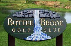Butter Brook Golf Club Sign / Danthonia Designs