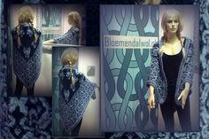 *15151* Prachtige FAIR ISLE omslagdoek gemaakt door een klant met diverse tinten Alpaca van Drops http://bloemendalwol.nl/drops/11-alpaca.html#  basis is een kooppatroon ( klik op foto voor patroon) rand eigen inspiratie