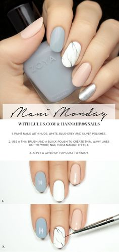 Mani Monday: Pastel Marble Nail Tutorial | Lulus.com Fashion Blog | Bloglovin' #slimmingbodyshapers The key to positive body image go to slimmingbodyshapers.com for plus size shapewear and bras