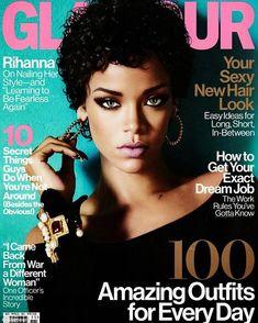 Muchacha de Cubierta: gracias Rihanna la Edición de noviembre de la revista Glamour, Que aparece