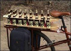 Bike beer rack