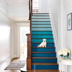 ombre painted stairs - Google Search