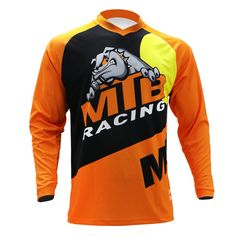 Bike Mtb, Cycling Bikes, Short Sleeves, Long Sleeve, Courses, Mountain Biking, Sport Outfits, Orange, T Shirt