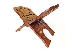 Carved Wood Book Holder, Foldable Wooden Book Stand, Perfect For Cookbooks, Wood  Magazine Rack, Wood Book Rack