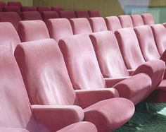 Pink theatre seats by Michele Bressan