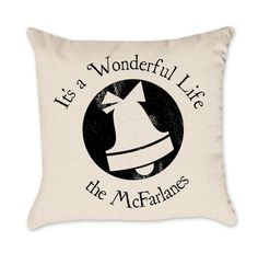 PERSONALIZED Christmas Pillow Cover -  It's a Wonderful Life