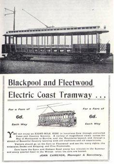 Blackpool and Fleetwood Tram advert - Blackpool Uk, Bus Coach, Hotel Guest, Light Rail, Coaches, Preston, Buses, Railroad Tracks, Transportation