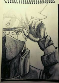 How To Draw Kakashi Sharingan 2019 Kakashi Drawing, Naruto Sketch Drawing, Naruto Drawings, Anime Drawings Sketches, Anime Sketch, Manga Drawing, Easy Drawings, Manga Art, Pencil Drawings
