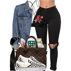 1073 by tuhlayjuh on Polyvore featuring Levi's, Vans, Louis Vuitton, Nixon and South Moon Under