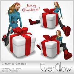 Second Life Marketplace - *EverGlow* - Christmas Gift Box