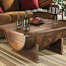 Whiskey barrel coffee table is coffee table that made from whiskey barrel. You can make whiskey barrel coffee table by yourself with use old whiskey barrel. Decor, Eclectic Coffee Tables, Rustic House, Diy Furniture, Furniture, Barrel Coffee Table, Home Decor, Coffee Table, Barrel Table