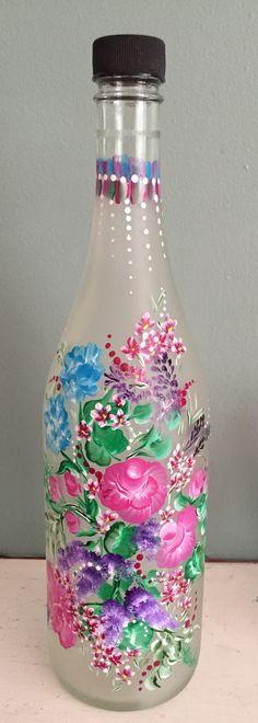 Floral Wine Bottle