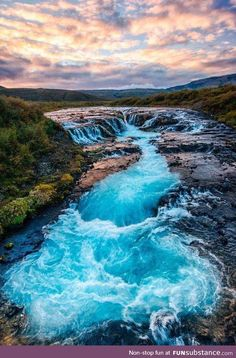 TY Mother Nature ~ The Bruarfoss Falls, Iceland Landscape Photography, Nature Photography, Travel Photography, Wedding Photography, Beautiful Waterfalls, Beautiful Landscapes, Places To Travel, Places To See, Beautiful World