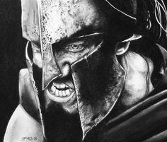 Leonidas drawing by Garvel Art