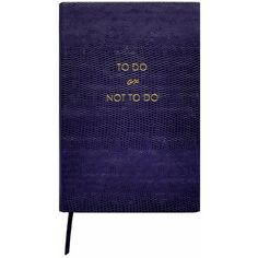 Sloane Stationery - 'To Do, Or Not To Do' Pocket Notebook ($11) ❤ liked on Polyvore featuring home, home decor, stationery, books, fillers, notebooks and accessories