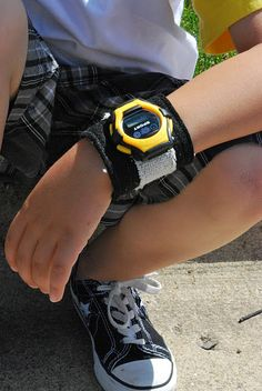 DIY Cuff watches! My son loves these sports bands.