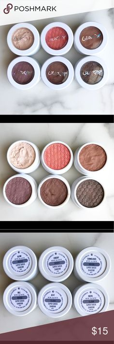 LOT of Colourpop Single Shadows LOT of Colourpop Single Shadows. All full size, all only used 1-3 times except Glow was used a few more times. See picture for shade names/info on each shadow. Colourpop Makeup Eyeshadow
