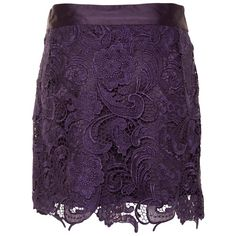 A|Wear Purple Belle Lace Skirt ($56) ❤ liked on Polyvore