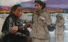Mance Lanctot - Les filles d'Eva Cold, Painting, Fictional Characters, Art, Daughter, Craft Art, Paintings, Kunst, Gcse Art