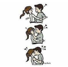 Discover amazing things and connect with passionate people. Cute Couple Comics, Couples Comics, Cute Couple Cartoon, Cute Love Stories, Love Story, Memes Lindos, Cute Love Cartoons, Cartoon Gifs, Cute Relationships