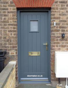 Oak Cottage Doors Framed Ledged Oak or Painted Hardwood Entrance Doors, Front Doors, Garage Doors, Porch Ideas, Door Ideas, Cottage Door, Tall Cabinet Storage, Hardwood, Grey