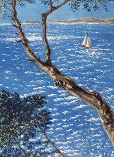 """Mare ligure sotto il sole"" [Ligurian Sea under the sun] by Alberto Savinio, 1949 (Tempera on masonite)"